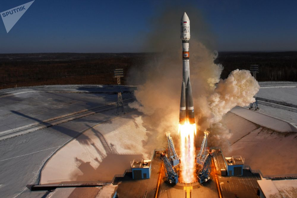 Старт ракеты-носителя Союз-2.1а с космическими аппаратами (КА) дистанционного зондирования Земли Канопус-В №3 и №4, и с 9 космическими коммерческими аппаратами с космодрома Восточный