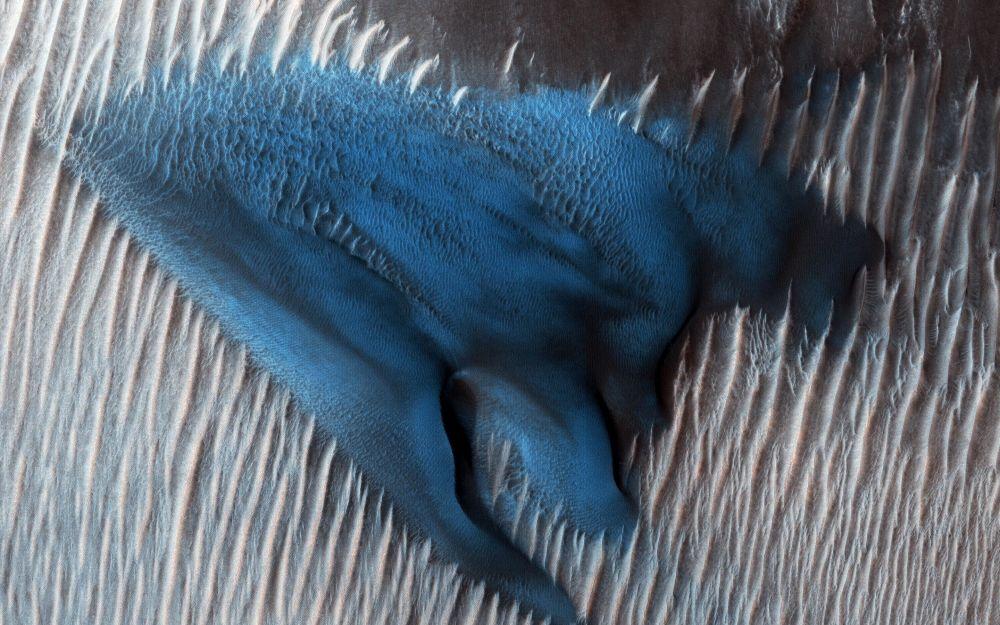 Песчаные дюны на Марсе