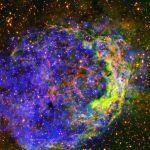 Газ в туманности NGC 3199 в созвездии Киль одной из звезд Вольфа-Райета