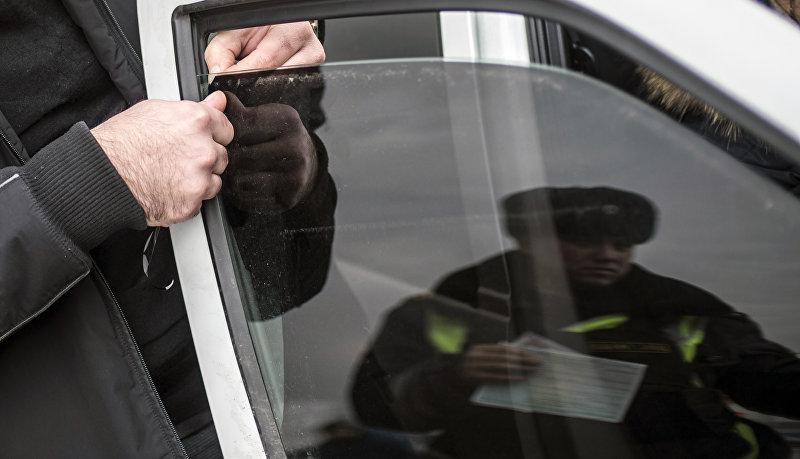 Рейд скрытых патрулей ДПС в Москве
