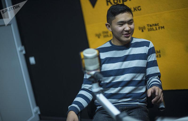 Предприниматель во время интервью на радиостудии Sputnik Кыргызстан