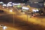 На видео попала жуткая авария в России, где пострадал водитель из КР