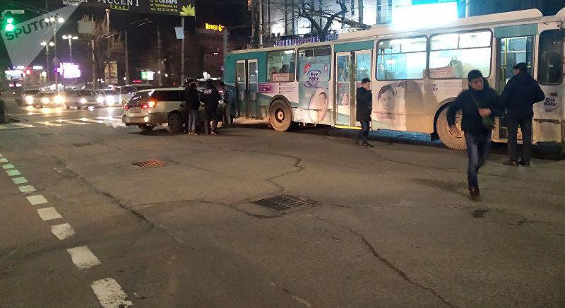 ДТП с участием троллейбуса на улице Абдрахманова