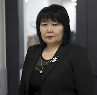 Эмгек жана социалдык жактан өнүктүрүү министрлигинин өкүлү Саида Асанбаева