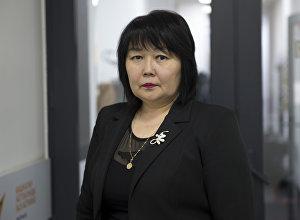 Специалист управления по развитию социальных услуг ЛОВЗ пожилых граждан Минсоцразвития Саида Асанбаева