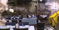Үңкүрдө наздана тамак жеп... Иорданиядагы өзгөчө ресторандын видеосу
