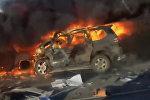 Три авто сгорели после ДТП под Воронежем, 8 человек погибли. Видео