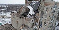 Девятиэтажный жилой дом №16 на улице Хабарова в городе Шахты, пострадавший из-за взрыва бытового газа.