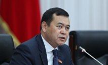 Депутат ЖК Мирлан Бакиров на заседании