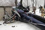 Частный вертолет разбился в Алматы