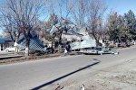 Последствия сильного ветра в Токмоке