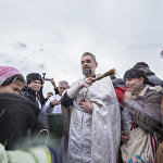 Празднование Крещения в Кыргызстане