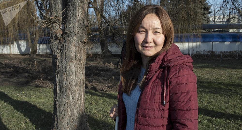 Основатель Кыргызской федерации незрячих Гулназ Жузбаева