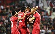 Футболисты Кыргызстана во время матча группового Кубка Азии по футболу. Архивное фото