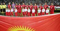 Игроки сборной Кыргызстана по футболу перед матчем 1/8 финала Кубка Азии по футболу со сборной ОАЭ в Абу-Даби. 21 января 2019 года