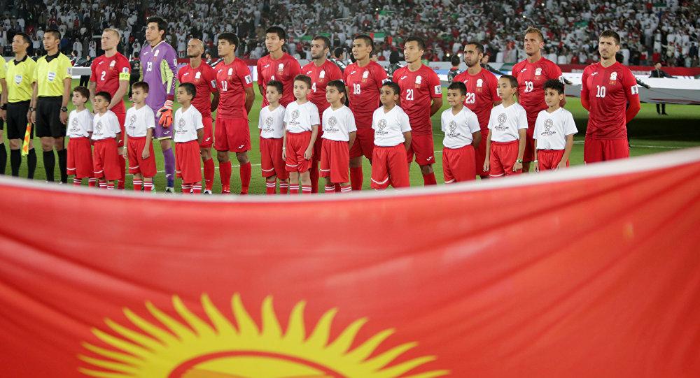Кыргызчандын футбол боюнча курама командасынын оюнчулары. Архив