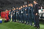 Главный тренер Кыргызстана Александр Крестинин и его тренерский состав. Архивное фото