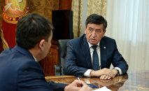 Президент Кыргызской Республики Сооронбай Жээнбеков принял председателя Государственного комитета национальной безопасности страны Идриса Кадыркулова