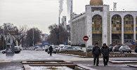 Вид на площадь Ала-Тоо в центре Бишкеке. Архивное фото