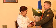 В посольстве России в Кыргызстане состоялась церемония вручения удостоверения к ордену Отечественной войны II степени дочери участника ВОВ Сарымсака Бакалиева