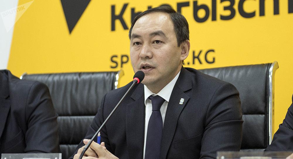 Заведующий отделом транспорта мэрии Кубан Джусупов на пресс-конференции Изменения в системе общественного транспорта Бишкека в мультимедийном пресс-центре Sputnik Кыргызстан.