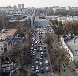 Концерт на площади Ала-Тоо в честь сборной Кыргызстана по футболу