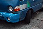 Автомобиль марки Hyundai Porter на дороге. Архивное фото