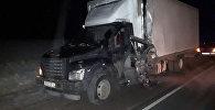 На 420-м километре трассы Нижний Новгород — Саратов, минивэн столкнулся с грузовиком ГАЗ-2824 FU. 24 января, 2019 года