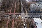Вид на транспорт на проспекте Эркиндик в Бишкеке. Архивное фото