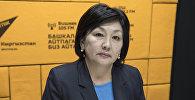 Директор кадамджайского филиала одного из коммерческих банков Кыргызстана Эль-Мира Кыпчакова. Архивное фото