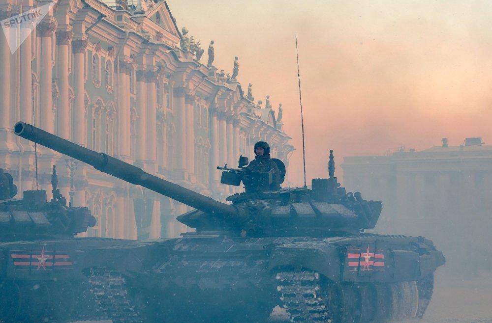 Генеральная репетиция парада в честь 75-летия снятия блокады Ленинграда