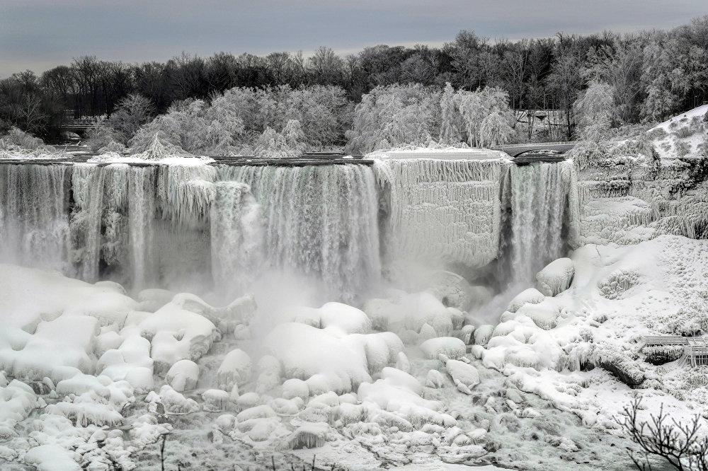 Сильные морозы на северо-востоке США