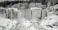 Из-за сильных холодов на северо-востоке США частично замерз Ниагарский водопад