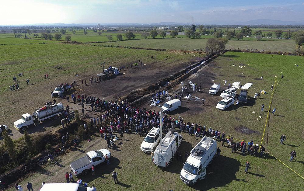 Взрыв нефтепровода Туспан-Тула в Мексике