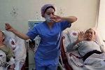 Токмокто медайымдар пациенттер үчүн флешмоб кылып, бийлеп берген видео