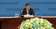 Президент Кыргызстана Сооронбай Жээнбеков на заседании Совета безопасности