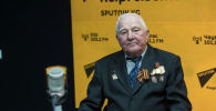 Ветеран афганской войны, бывший советник ЦК КПСС Олег Михайлов во время интервью на радиостудии Sputnik Кыргызстан
