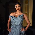 Работы дизайнеров демонстрировали не только манекенщицы, но и индийские актрисы. Tabbu демонстрирует работу  дизайнера Gaurav Gupta