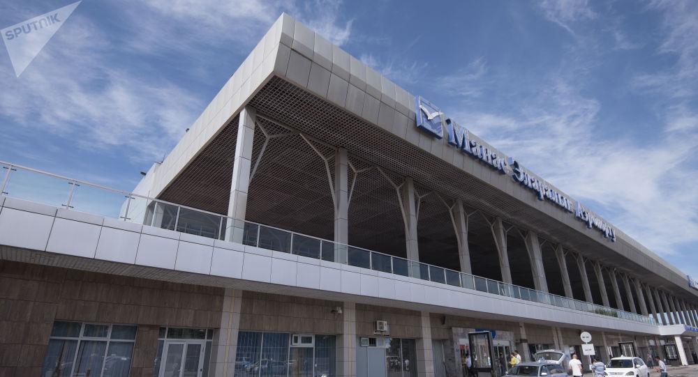 Манас аэропортунун имараты. Архив