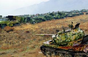 Площадка хранения боевой техники советского производства близ Кабула.