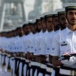 Пакистандын аскер-деңиз флотунун аскерлери машыгуунун ачылышында