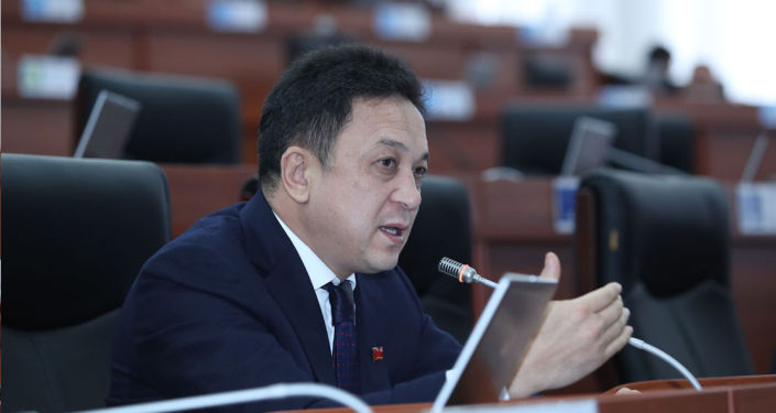 Депутат ЖК Аалы Карашев на заседании