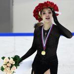 Евгения Медведева, забравшая первое место на Кубке России
