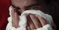 Плачущий мужчина. Архивное фото