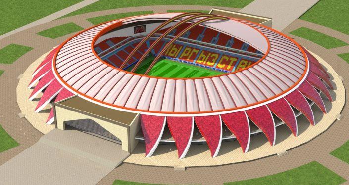 Проект нового стадиона в Бишкеке разработанный архитектором Рахатбеком Байтелиевым