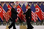 АКШнын президенти Дональд Трамп менен Түндүк Кореянын башчысы Ким Чен Ын жолугушуу учурунда