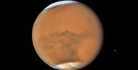 Планета Марс через телескоп Хаббл Марс. Архивное фото