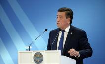 Президент Сооронбай Жээнбеков на XI съезде судей Кыргызстана