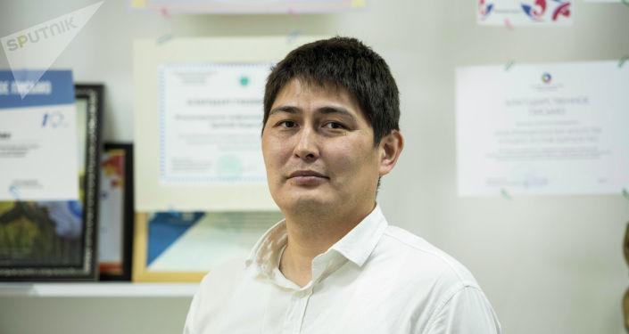 Ведущий специалист отдела информационной безопасности одного из банков страны Бакыт Куручбеков. Архивное фото