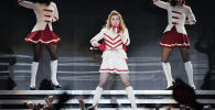 Американская певица Мадонна выступает на концерте. Архивное фото